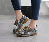 Womens Lovely Floral Rugged Boots
