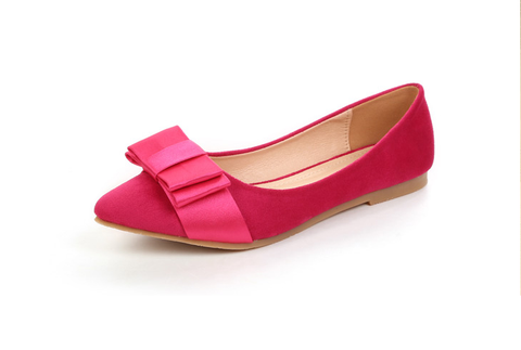 Womens Pretty Ribbon Pointy Flats