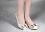 Womens Cute Charming Bow Wedges