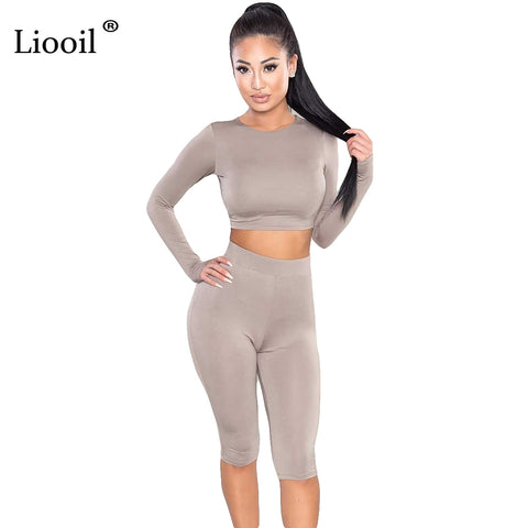 Womens Two Piece Bodycon Winter Knee Length Long Sleeve Black Sexy Club Elegant Jumpsuit