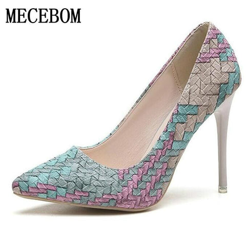 Womens 2018 High Heels Ladies Pumps Sexy Wedding Party Shoes
