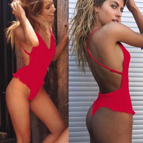 Womens Sexy Ruffles Bikini Push-Up Padded Swimwear Popular Swimsuit Bodysuit