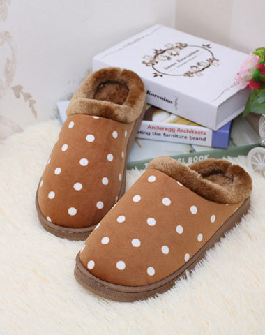 Mens Cool Comfy Polka Dot House Slippers