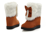 Womens Charming Fur Winter Boots