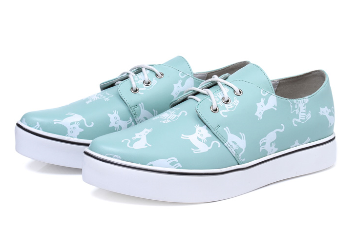 c711315a6fdf1 Womens Cat Print Casual Shoes