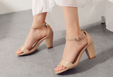 Womens Sleek Open Toe Sandal Heels
