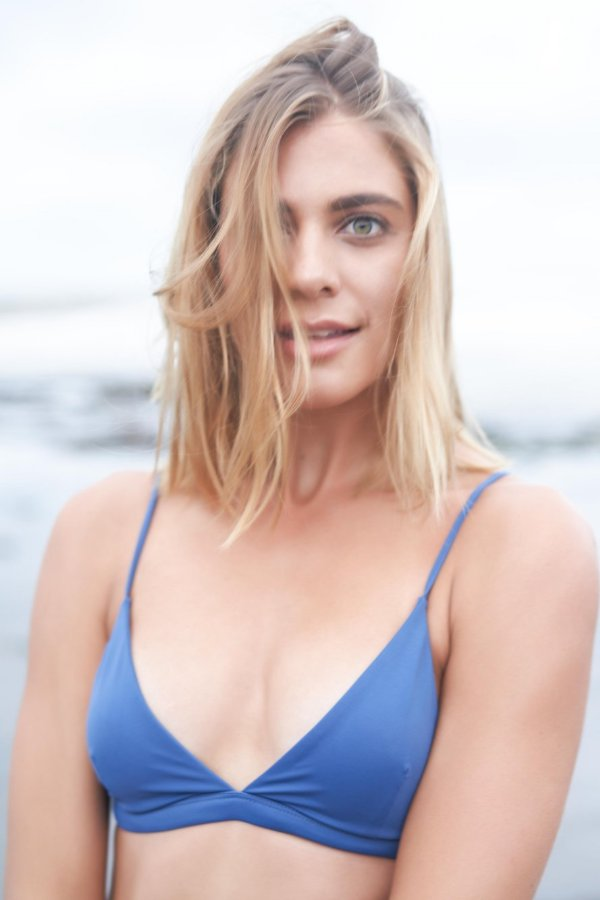 LITTLE PANDANUS // REEF TRIANGLE BIKINI TOP - OCEAN