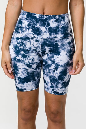 ONZIE // HIGH RISE BIKER SHORT - ACID WASH