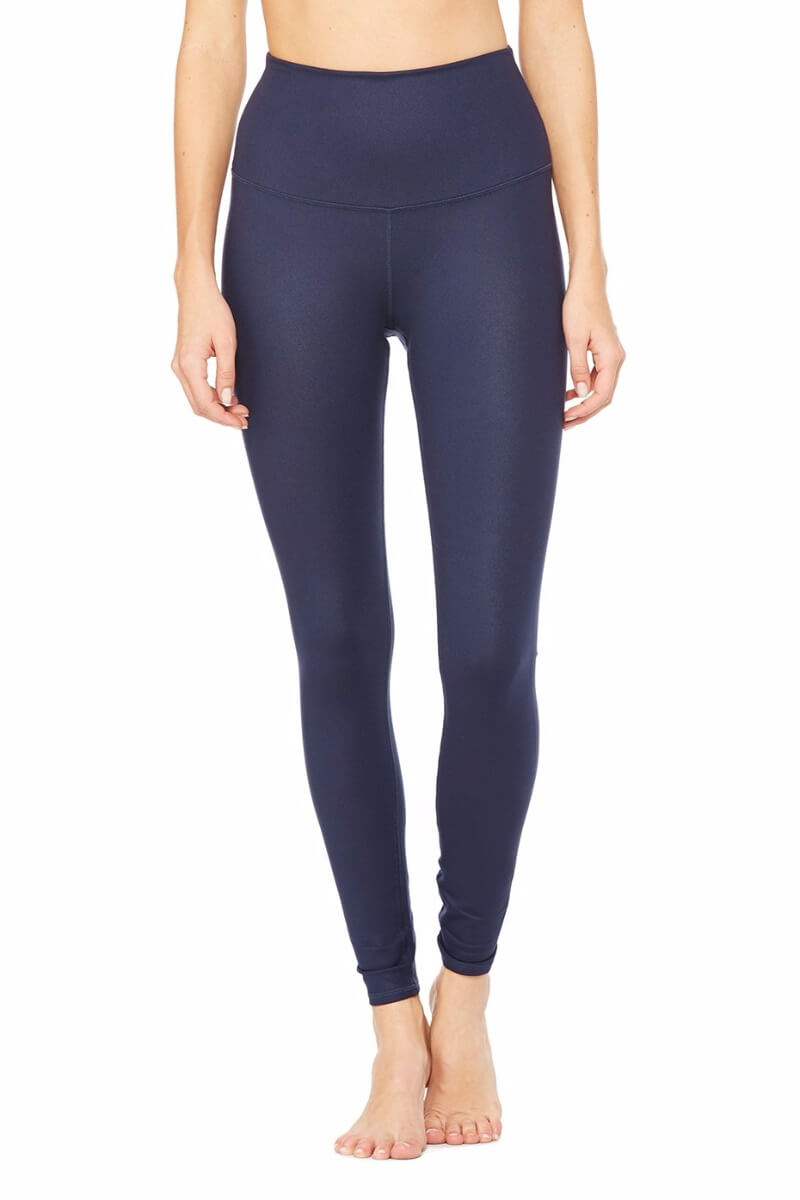 SEA YOGI High Waist Airbrush legging in Rich Navy by Alo, Yoga Shop in Palma de Mallorca, front