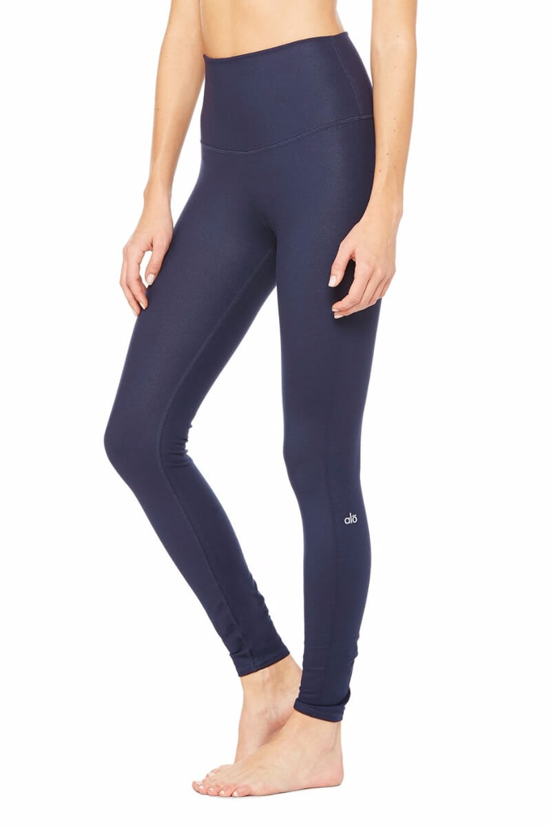 SEA YOGI High Waist Airbrush legging in Rich Navy by Alo, Yoga Shop in Palma de Mallorca, Side