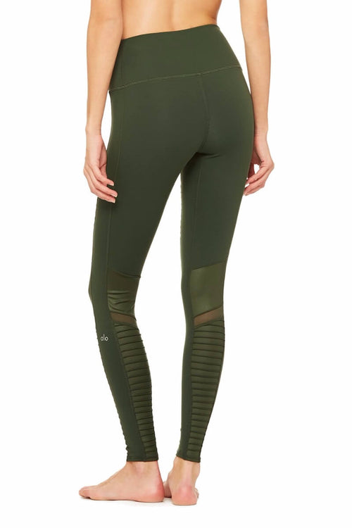 Alo Moto Legging in Hunter, Boutique Palma de Mallorca, Sea Yogi, Back