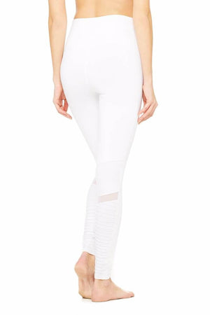 SEA YOGI High Waist Moto legging by Alo, Yoga Shop in Palma de Mallorca, White back