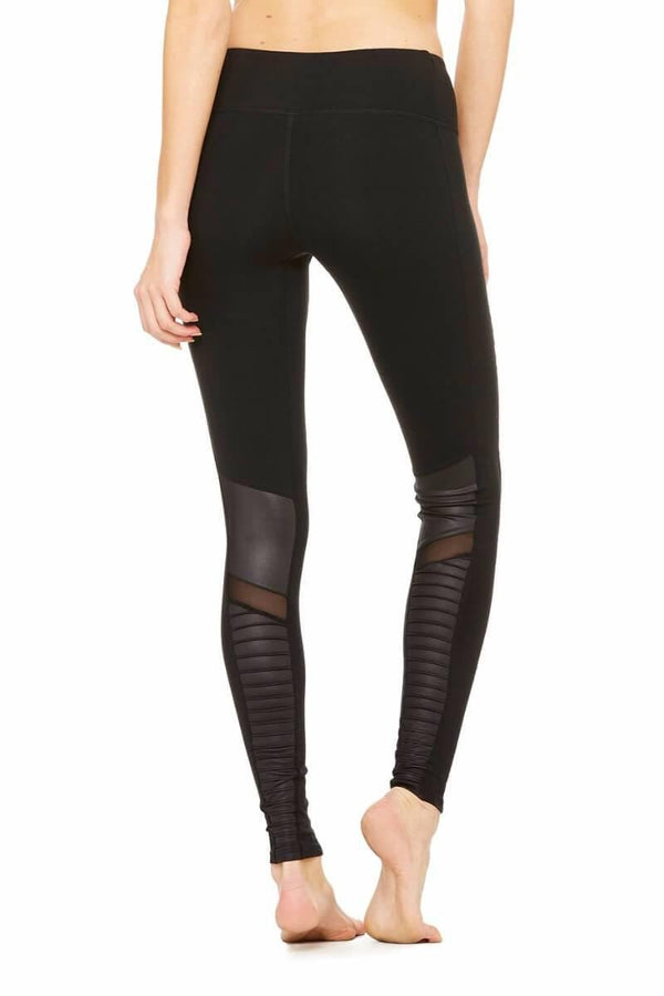 SEA YOGI High Waist Moto legging by Alo, Yoga Shop in Palma de Mallorca, black, back