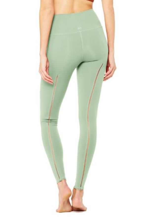 ALO YOGA // HIGH WAIST DASH LEGGING - SAGE