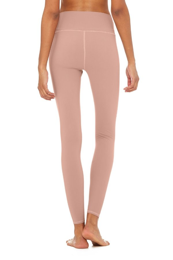 SEA YOGI // Alo High ripped warrior legging in rose quartz,  back
