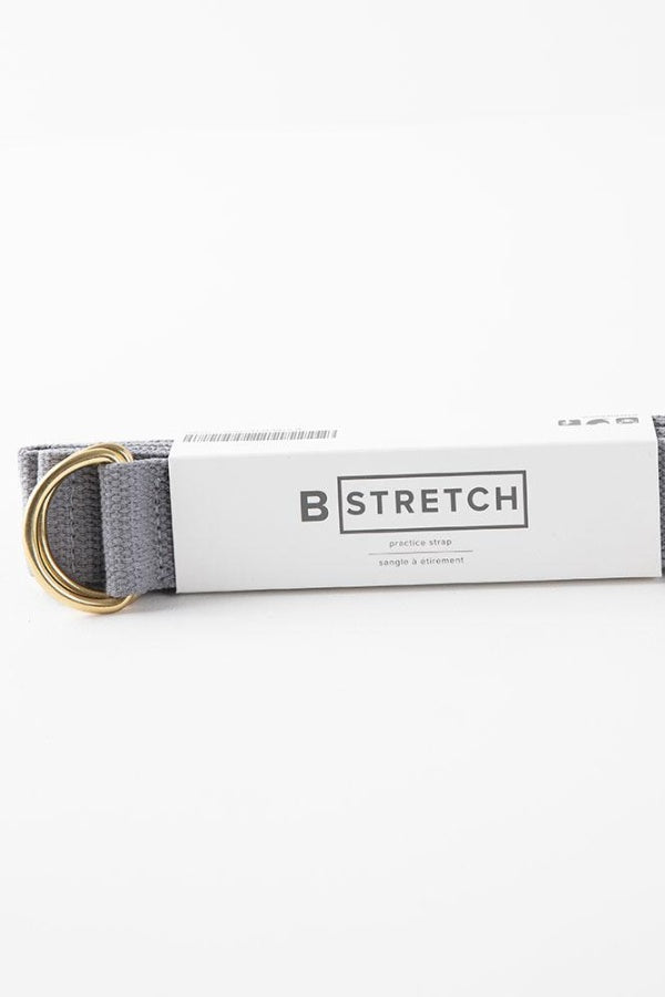 B YOGA  //  B STRETCH YOGA STRAP - GREY