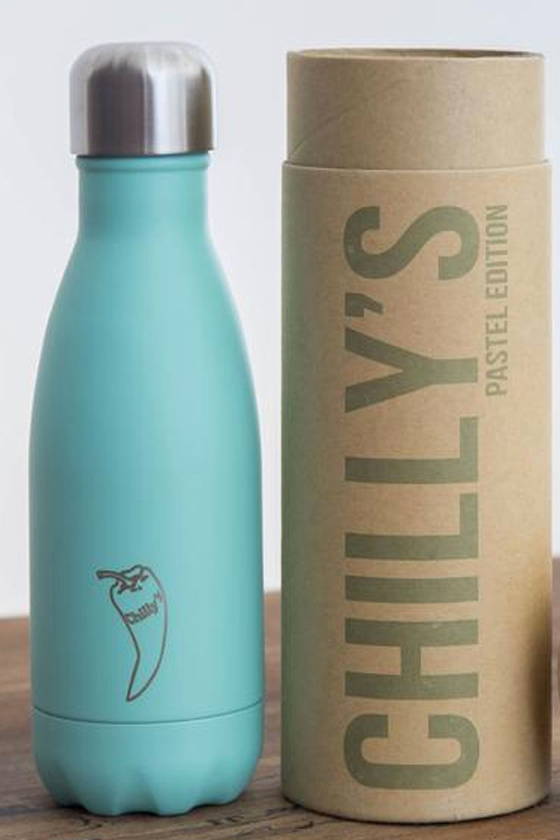 SEA YOGI water bottles in green, 260ml, 24 hours cold or 12h Cold by Chilly - Yoga Shop in Palma