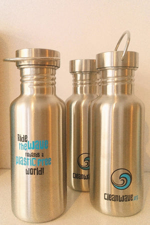 SEA YOGI // Cleanwave water bottle, refill at any station for free, Yoga Shop, front image