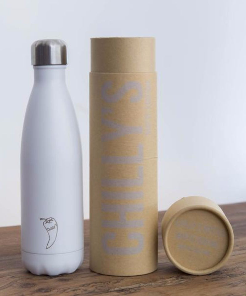 Chilly water bottle in paste white colour and 500ml size, package image - SEA YOGI