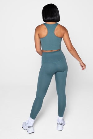 GIRLFRIEND COLLECTIVE // COMPRESSIVE HIGH RISE LEGGING - JADE