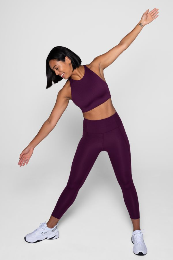 GIRLFRIEND COLLECTIVE // COMPRESSIVE HIGH RISE LEGGING - PLUM