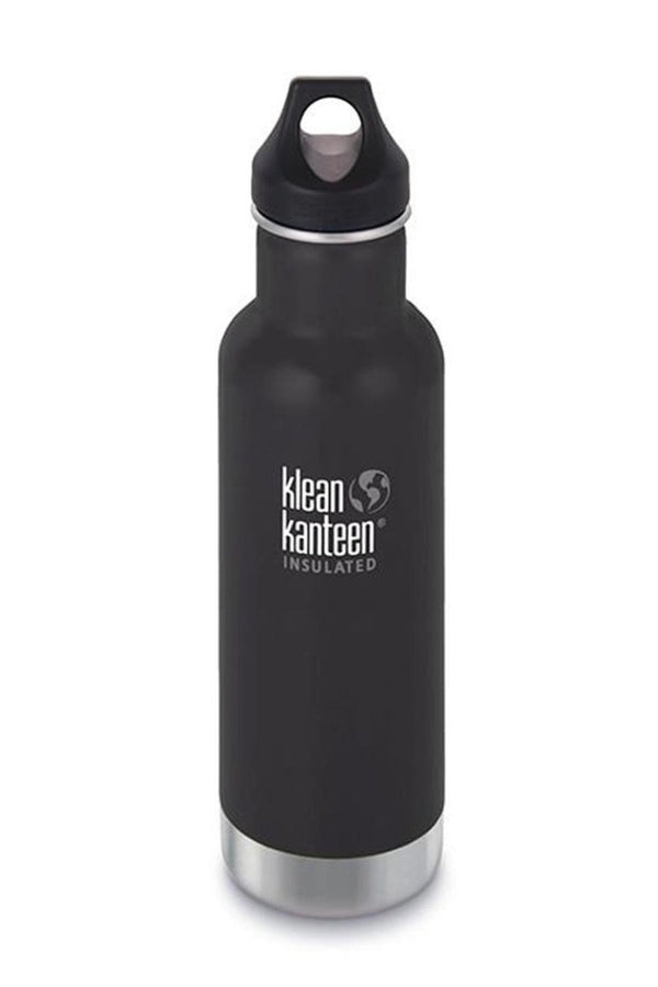 SEA YOGI // Shale black matt water bottle by Klean Kanteen. Keeps the water 20h hot and 50h iced.