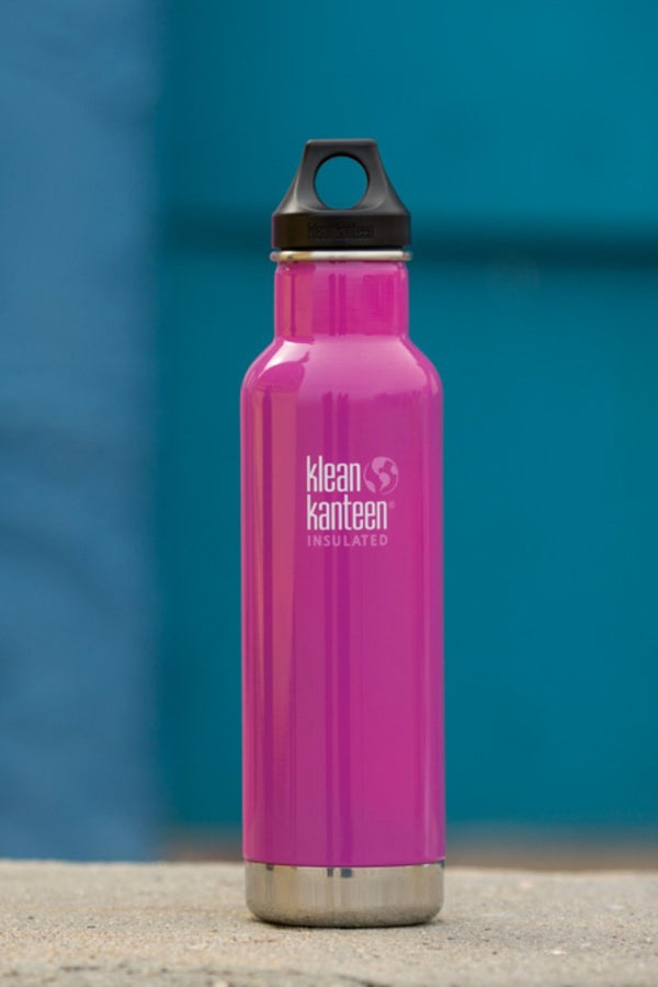 SEA YOGI // Wild Orchid insulated water bottle by Klean Kanteen, visual