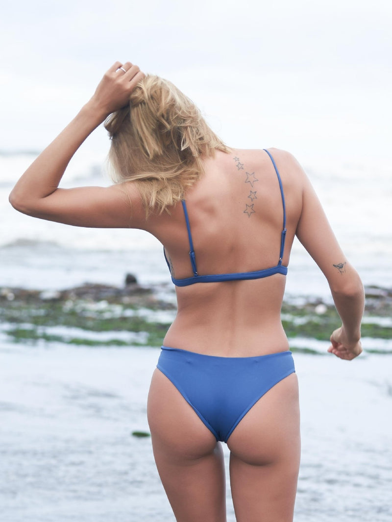 LITTLE PANDANUS // SIREN BIKINI BOTTOMS - OCEAN