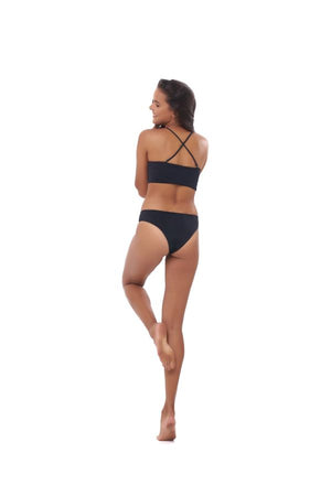 LITTLE PANDANUS // SIREN BIKINI BOTTOMS - EBONY
