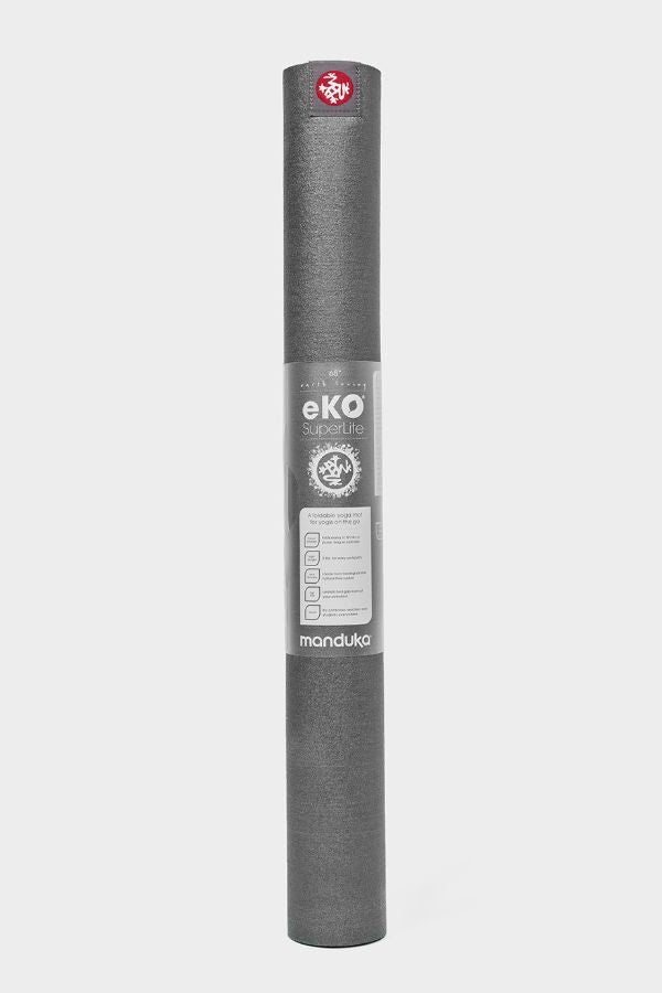 SEA YOGI // Manduka eKO Superlite Yoga Mat in Charcoal, standing
