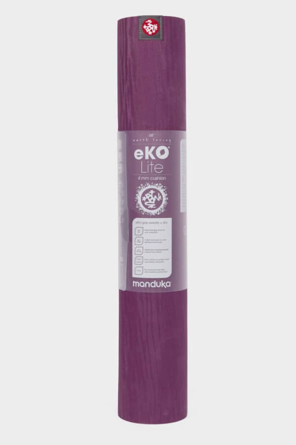 SEA YOGI // Acai Midnight Eko Yoga mat in 4mm by Manduka, standing