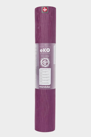 SEA YOGI // Acai Midnight Eko Yoga mat in 5mm by Manduka, standing
