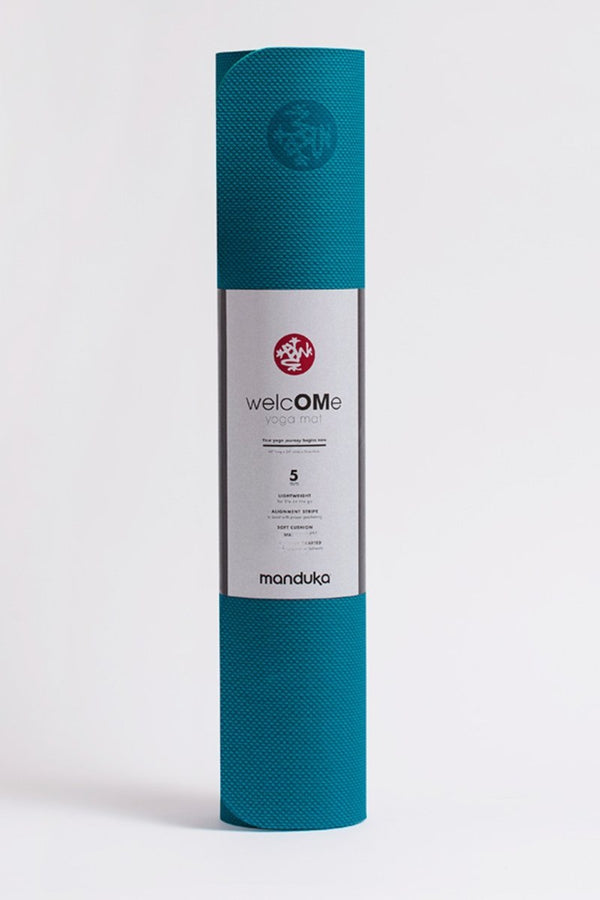 SEA YOGI // Welcome yoga mat for beginners in Harbour colour, by Manduka, online yoga shop, standing