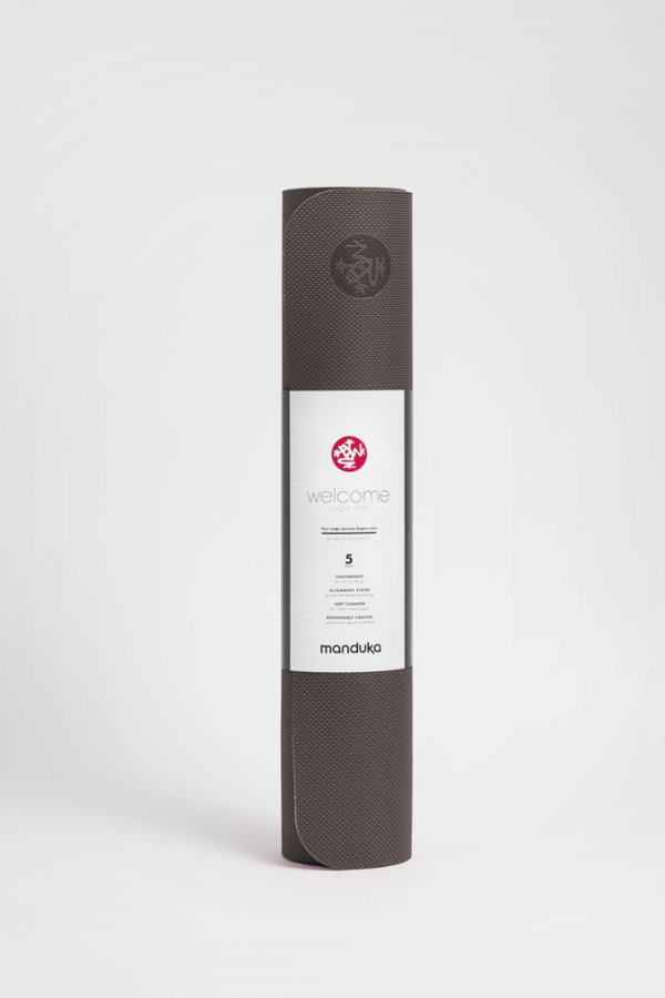 SEA YOGI // MANDUKA WELCOME YOGA MAT, 5mm , THUNDER, standing