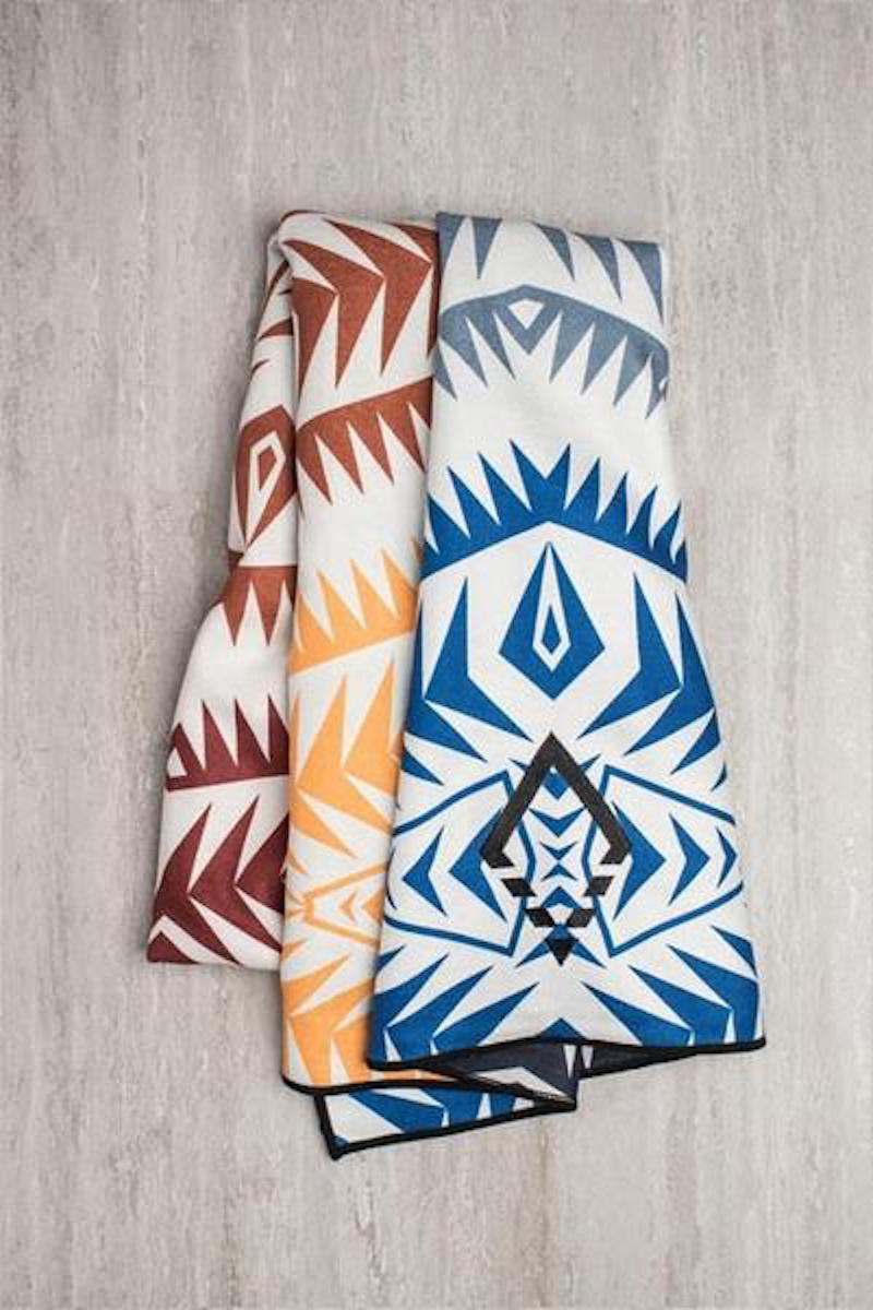 SEA YOGI Cayambe Market yoga towel from Nomadix, Online Yoga Shop, folded