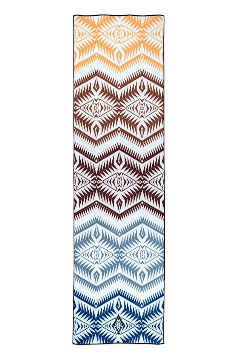 SEA YOGI Cayambe Market yoga towel from Nomadix, Online Yoga Shop, spread out