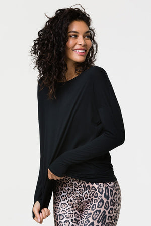 ONZIE // DIAMOND BACK TOP - BLACK