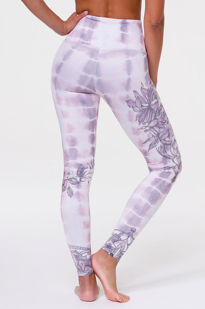 ONZIE // HIGH RISE GRAPHIC LEGGING - TIE DYE MANDALA