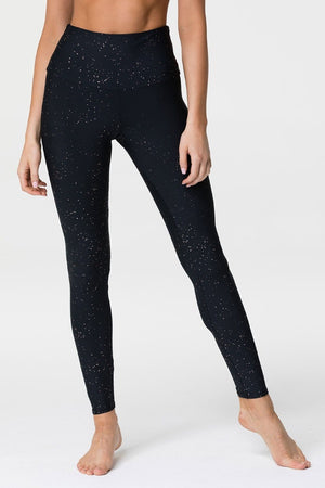 ONZIE // HIGH RISE MIDI LEGGING - GOLD DUST