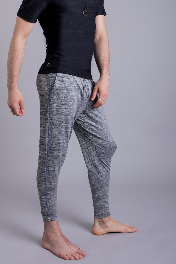 SEA YOGI // Dharma Yoga Pants in Grey by OHMME, Online Yoga Shop, right