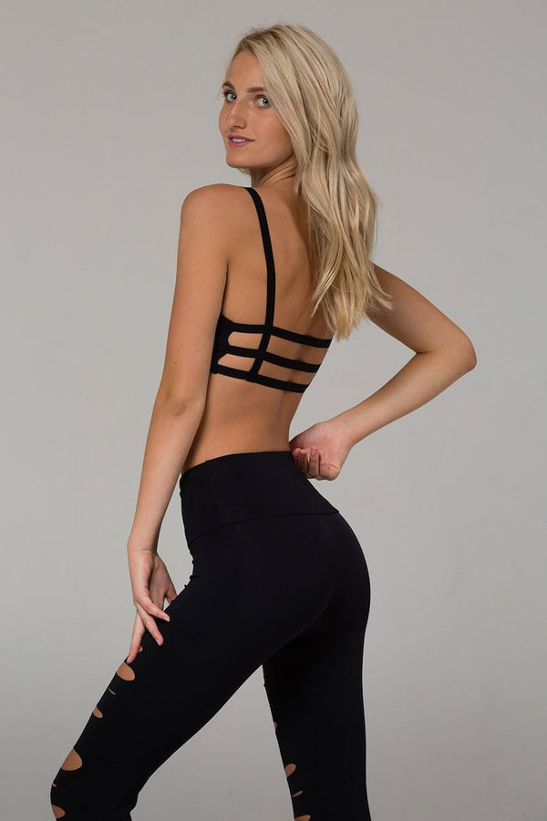 SEA YOGI Elastic Bra in Black by Onzie, Tienda de Yoga Online, side