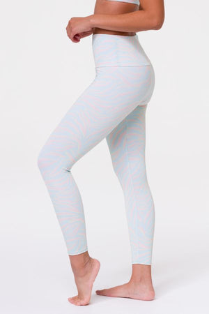 ONZIE // HIGH BASIC MIDI LEGGING - PASTEL ZEBRA