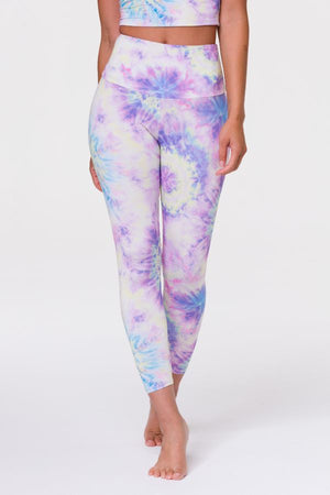 ONZIE // HIGH BASIC MIDI LEGGING - NEON TIE DYE
