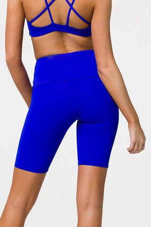 ONZIE // HIGH RISE BIKER SHORT - ROYAL BLUE