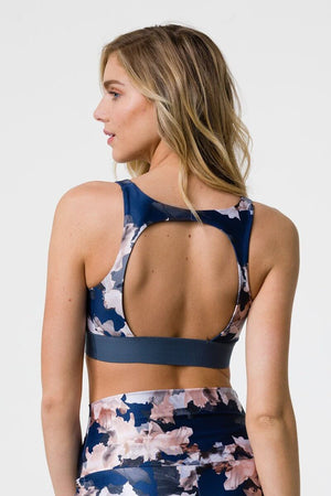 SEA YOGI // Onzie Lotus Bra with nomad blossom print, back