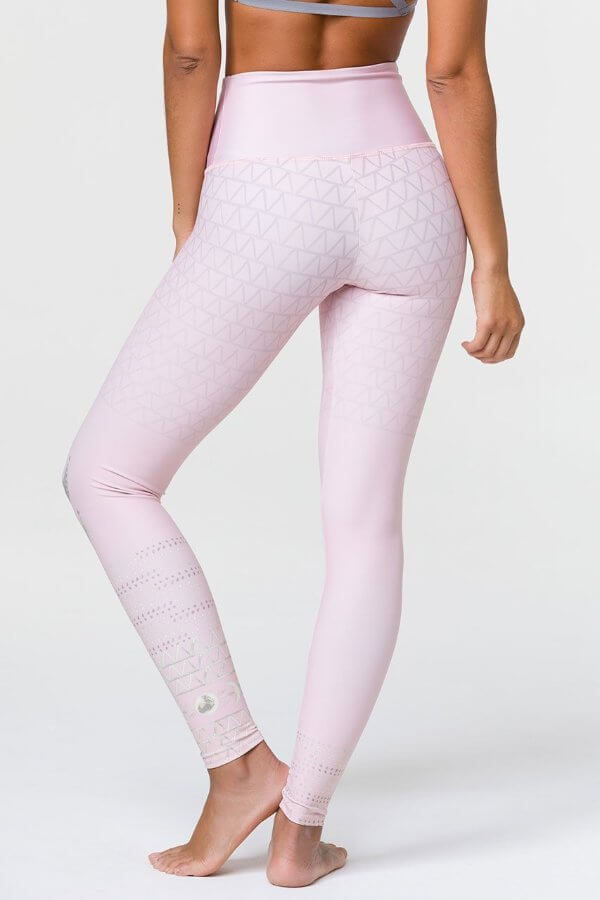 SEA YOGI // Onzie High rise graphic legging Las lunas blush, back
