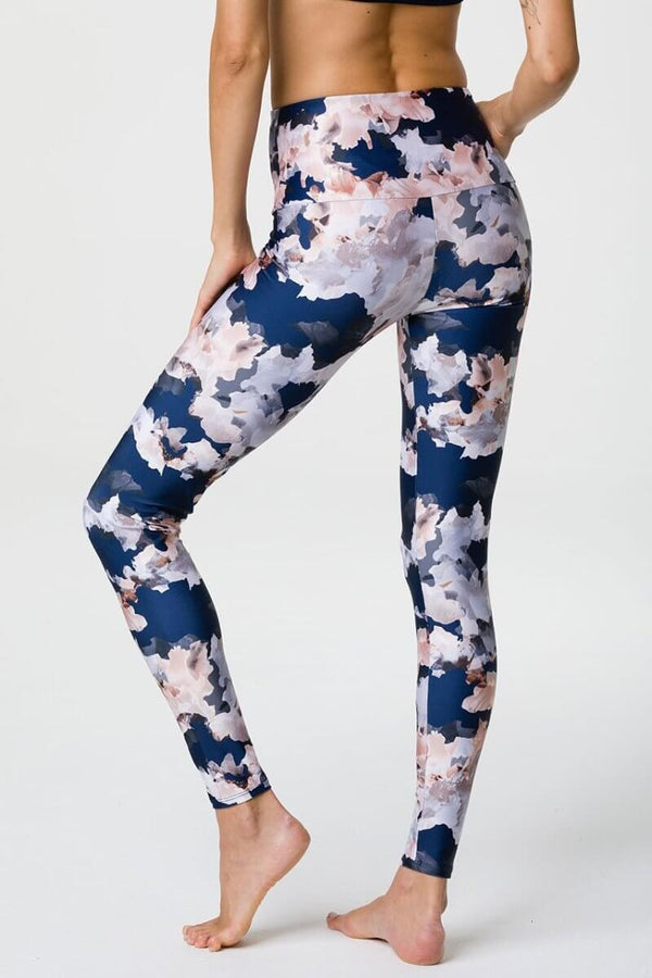 SEA YOGI // Onzie High rise legging with Nomad Blossom print, back
