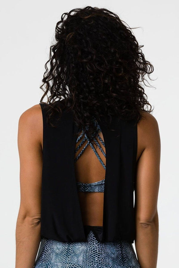 SEA YOGI // Onzie In Play Tank in black, back