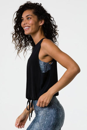 SEA YOGI // Onzie In Play Tank in black, left