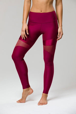 SEA YOGI // Royal Legging by Onzie in Burgundy, front